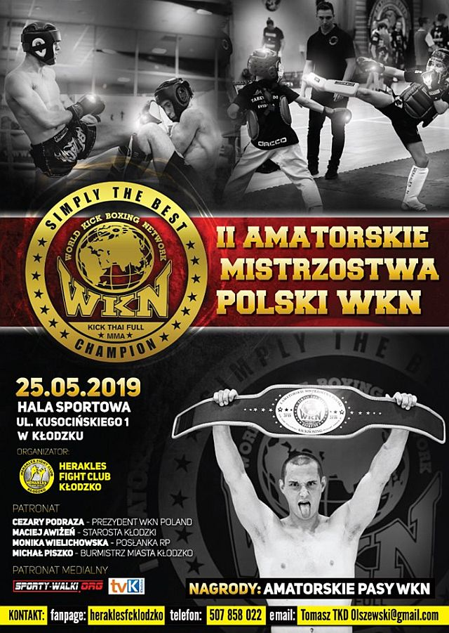 II Amatorskie Mistrzostwa Polski WKN i III Amatorska Liga K1 WKN (25.05.2019) Kłodzko